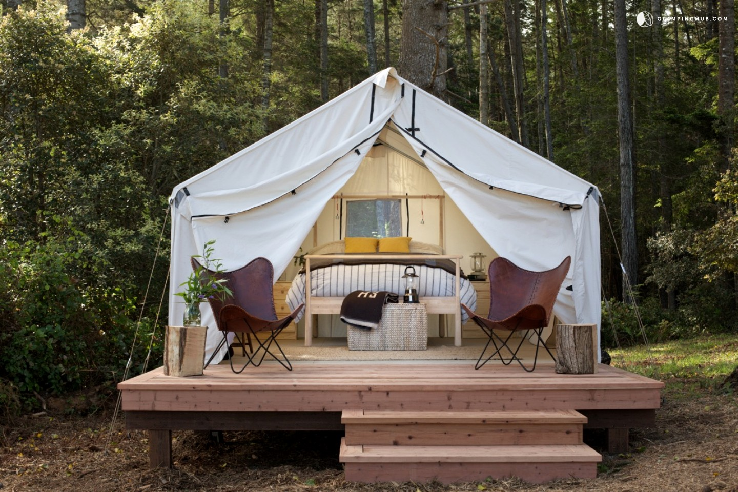 Peaceful Safari Tent C&ing in Coastal Woodlands & Peaceful Safari Tent Camping in Coastal Woodlands : Hopaway Holiday ...